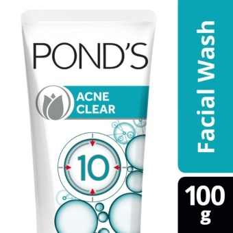 POND'S ACNE CLEAR FACIAL WASH ANTI-ACNE 100G .