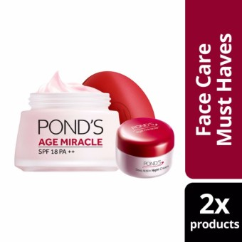 POND'S AGE MIRACLE DAY CREAM 50G WITH FREE NIGHT CREAM 10G