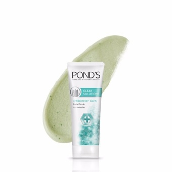 POND'S CLEAR SOLUTIONS FACIAL SCRUB ANTI-BACTERIAL 100G . - 4