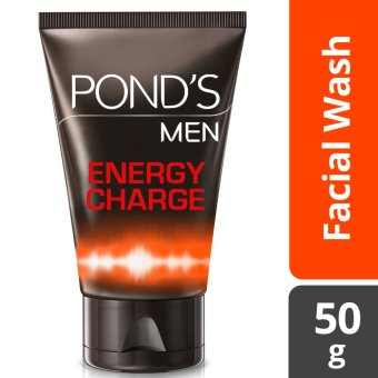 PONDS MEN FACIAL WASH ENERGY CHARGE 50G .