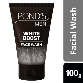 PONDS MEN FACIAL WASH WHITE BOOST 100G .