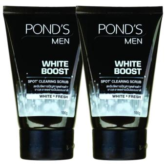 Pond's Men White Boost Spot Clearing Scrub Facial Cleanser Foam100g Set of 2