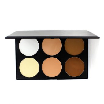 Pop Art Pro 6 Colors Cosmetic Contour Face Powder Makeup Palette