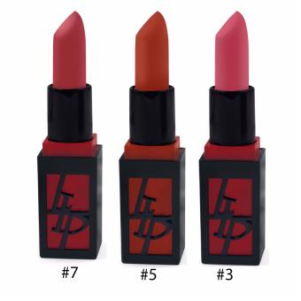 Pop Art Romantic Bird Matte Color Lipstick (#7,#5,#3) Set of 3