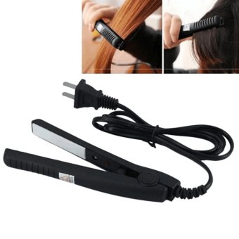Portable Electrical Hair Straightener Flat Iron StylingTools(BLACK) with FREE LD LACE