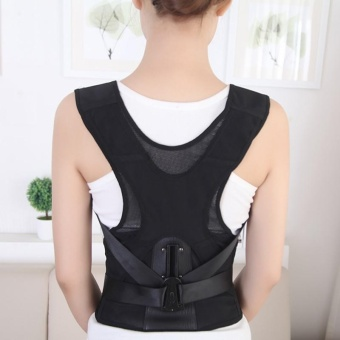 Posture Correction Waist Shoulder Chest Back Support Brace Corrector Belt - XL - intl