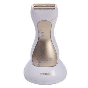 Pritech LD-9987A Rechargeable Epilator Washable Lady Shaver Electric Hair Remover Personal Care Styling Tools (Gold)