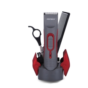 Pritech PR-760 Rechargeable Hair Clipper (Gray/Red)