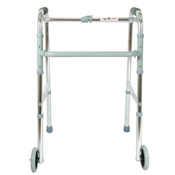 Procare Walker with Wheels (Silver)