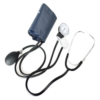 Professional Medical Sphygmomanometer Manual Blood Pressure BP Cuff Monitor Kit with Stethoscope - intl