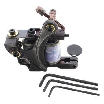 Professional Rotary Tattoo Machine with 3 Wrench Adjusters for Shader And Liner Semi-permanent Make-up - intl