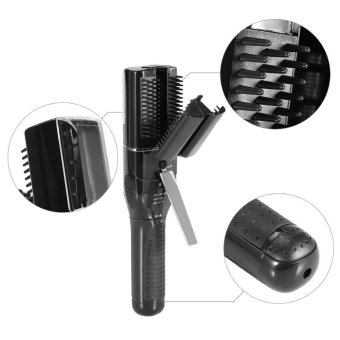 Professional Split Ends Damaged Hair Trimmer With Comb AutomaticHairstyle Set(US Plug Black) - intl - 4