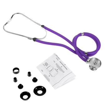 Professional Stethoscope Medical Double Dual Head Colorful Multifunctional Stethoscope Health Care Purple - intl