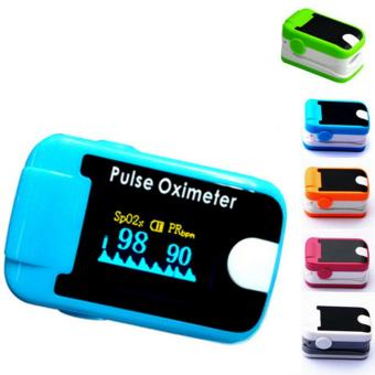 Protable Health Finger Pulse Oximeter Saturation Oximetro Monitor Device (Blue) - intl