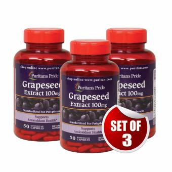 Puritan's Pride Anti-Oxidant Grapeseed Extract 100 mg, 50 Capsules