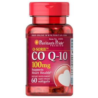 Puritan's Pride CO Q-10 100mg, Supports Heart Health (60 Softgels)