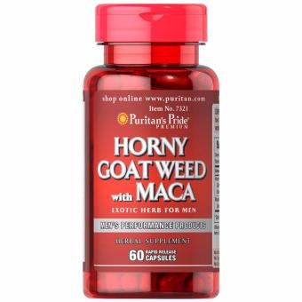 Puritan's Pride Horny Goat Weed Maca 500mg 60 capsules Set of 1 Bottle