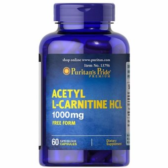 Puritan's Pride Acetyl L-Carnitine HCL 1000 mg Free Form, 60Capsules