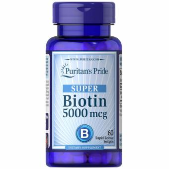Puritan's Pride Biotin 5mg 60 softgels Set of 1 Bottle