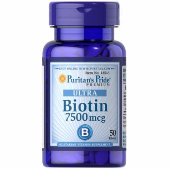 Puritan's Pride Biotin 7500 mcg 50 tablets Set of 1 Bottle