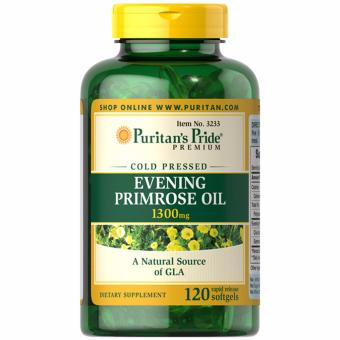 Puritan's Pride Evening Primrose Oil 1300mg 120 softgels Set of 1Bottle
