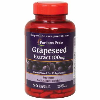 Puritan's Pride Grapeseed Extract 100mg 50 capsules Set of 1 Bottle
