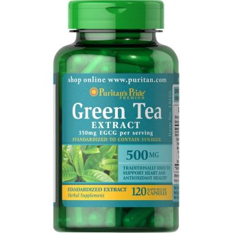 Puritan's Pride Green Tea Extract 500mg, 120 Capsules