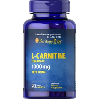 Puritan's Pride L-Carnitine Fumarate 1000 mg Free Form, 90 Caplets