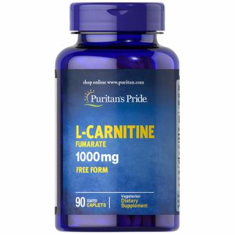Puritan's Pride L-Carnitine Fumarate 1000mg 90 caplets Set of 1Bottle