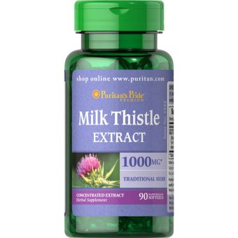 Puritan's Pride Milk Thistle Extract 1000 mg, 90 Softgels