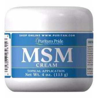 Puritan's Pride MSM Cream topical application for Bones, Joints,Arthritis pain, after work-out gym cream 4oz