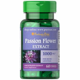 Puritan's Pride Passion Flower 1000mg 60 capsules Set of 1 Bottle