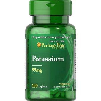 Puritan's Pride Potassium 99mg, 100 Caplets