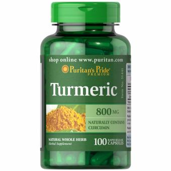 Puritan's Pride Turmeric 800mg 100 capsules Set of 1 Bottle