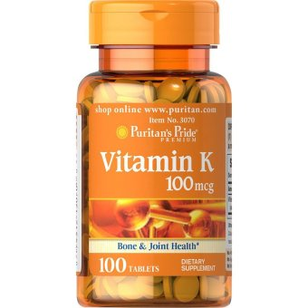 Puritan's Pride Vitamin K 100mcg, 100 Tablets