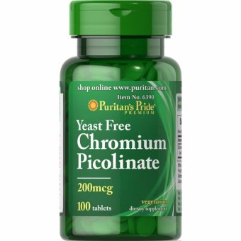 Puritan's Pride Yeast Free Chromium Picolinate 200 mcg, 100 Tablets