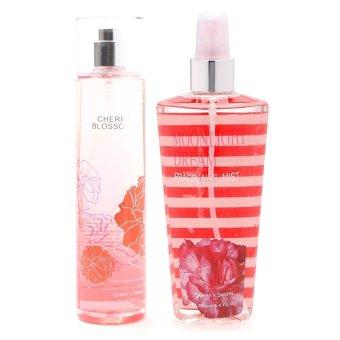 Queen's Secret Cherry Blossom Fine Fragrance Mist for Women 236ml with Queen's Secret Sweet Moonlight Dream Fine Fragrance Mist for Women 236ml Bundle