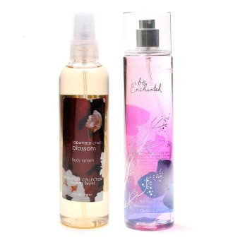 Queen's Secret Japanese Cherry Blossom Body Splash 236ml with Queen's Secret Be Enchanted Fine Fragrance Mist 236ml Bundle