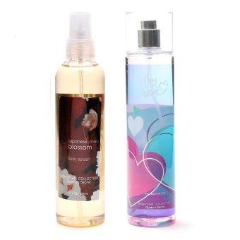 Queen's Secret Japanese Cherry Blossom Body Splash 236ml with Queen's Secret Love Fine Fragrance Mist 236ml Bundle