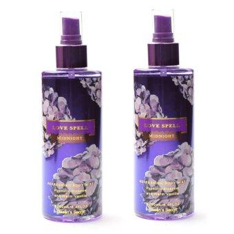 Queen's Secret Love Spell Midnight Body Mist for Women 250ml Set of 2