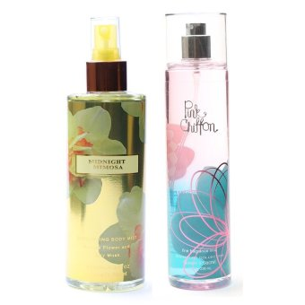 Queen's Secret Midnight Mimosa Body Mist for Women 250ml with Queen's Secret Pink Chiffon Fine Fragrance Mist for Women 236ml Bundle