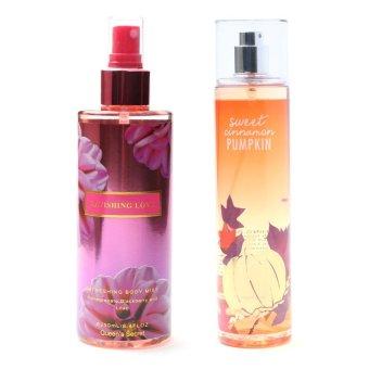 Queen's Secret Ravishing Love Body Mist for Women 250ml with Queen's Secret Sweet Cinnamon Pumpkin Fine Fragrance Mist for Women 236ml Bundle