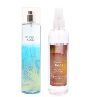 Queen's Secret Sea Island Cotton Fine Fragrance Mist 236ml with Queen's Secret Sheer Freesia Body Spray For Women 236ml Bundle - picture 2