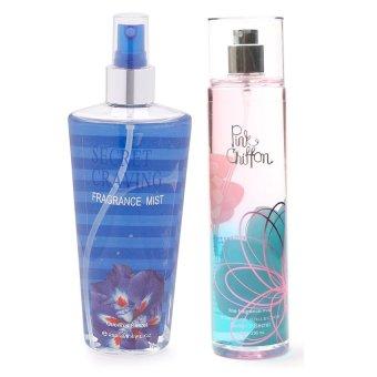 Queen's Secret Secret Craving Fragrance Mist for Women 250ml with Queen's Secret Pink Chiffon Fine Fragrance Mist for Women 236ml Bundle