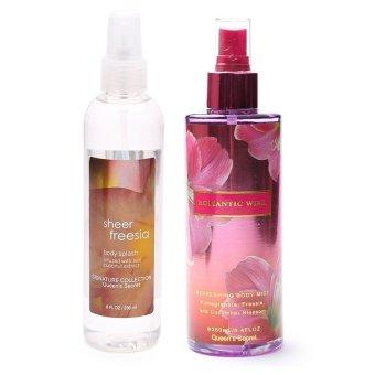 Queen's Secret Sheer Freesia Body Spray for Women 236ml and Queen's Secret Romantic Wish Body Mist for Women 250ml