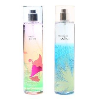 Queen's Secret Sweet Pea Fine Fragrance Mist for Women 236ml with Queen's Secret Sea Island Cotton Fine Fragrance Mist for Women 236ml Bundle