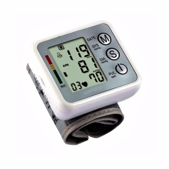 Rechargeable Health home electronic blood pressure monitor with Voice (Silver)