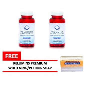 Relumins Advance Nutrition Gluta 1000 60 Capsules Bottle of 2 withFREE Relumins Premium Whitening/Peeling Soap Price Philippines