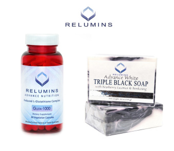 Relumins Advance Nutrition Gluta 1000 L-Glutathione Complex 60Vegetarian Capsules with Triple Black Soap Price Philippines