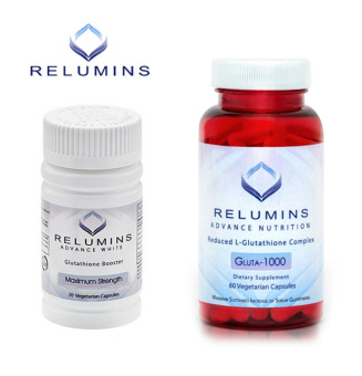 Relumins Advance White Gluta 1000 Reduced L-Glutathione 60Vegetarian Capsules with Booster Max Strength
